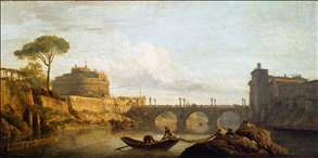 The Bridge and the Castel Sant'Angelo in Rome