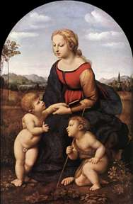 The Virgin and Child with Saint John the Baptist (La Belle Jardinière)