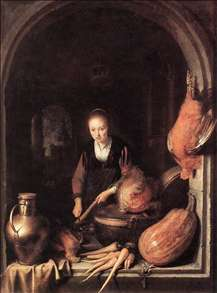Woman Peeling Carrot