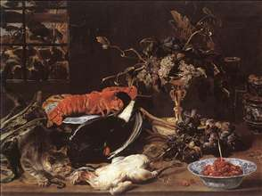 Still-life with Crab and Fruit