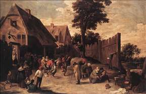 Peasants Dancing outside an Inn