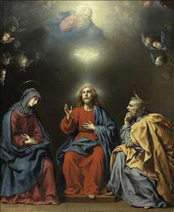 The Holy Family with God the Father and the Holy Spirit