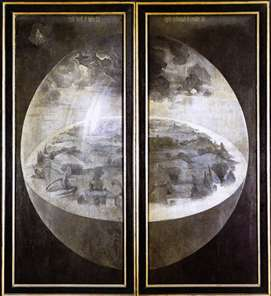 Triptych of Garden of Earthly Delights (outer wings)