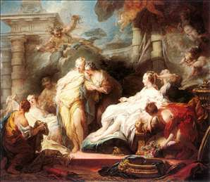 Psyche showing her Sisters her Gifts from Cupid