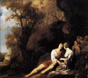 Amorous Couple in a Landscape