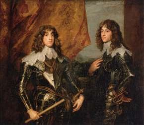 Portrait of the Princes Palatine Charles-Louis I and his Brother Robert