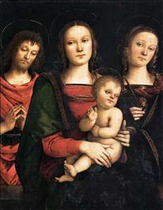 Virgin and Child between Sts John the Baptist and Catherine