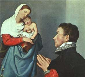 A Gentleman in Adoration before the Madonna
