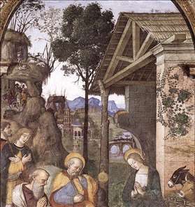 Adoration of the Christ Child (detail)