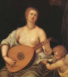 The Lute-playing Venus with Cupid
