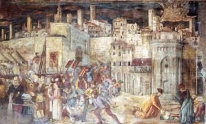 Burial of St Ercolano outside the Gates of Perugia