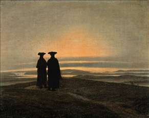 Evening Landscape with Two Men