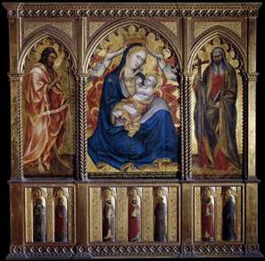 Virgin and Child with St John the Baptist and St Andrew