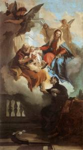 The Holy Family Appearing in a Vision to St Gaetano