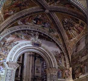 View of the Frescoes in the Chapel of San Brizio