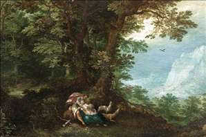 Extensive Wooded Landscape with Cephalus and Procris