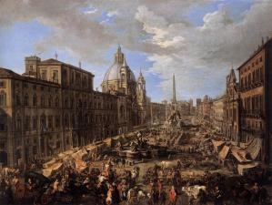 Market in the Piazza Navona in Rome