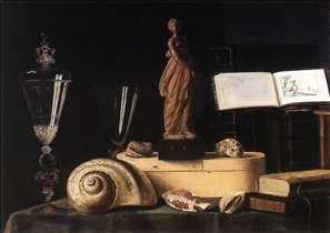 Still-Life with Statuette and Shells