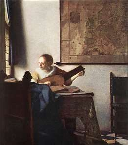 Woman with a Lute near a Window