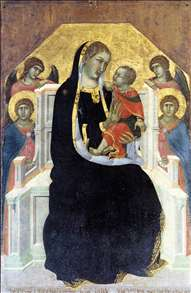 Virgin Enthroned with Child and Four Angels