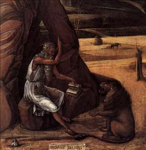 St Jerome in the Desert (detail)