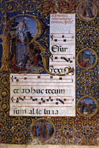 Page of a choirbook