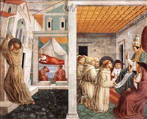 Scenes from the Life of St Francis (Scene 5, north wall)
