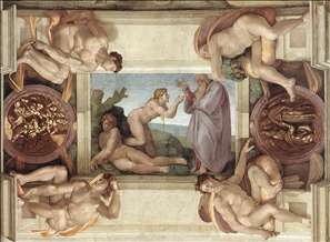 Creation of Eve (with ignudi and medallions)
