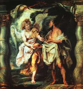 The Prophet Elijah Receiving Bread and Water from an Angel