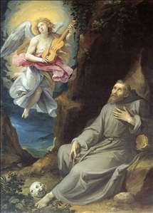 St Francis Consoled by an Angel
