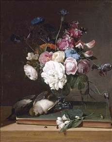 Still-Life of Flowers in a Glass Vase