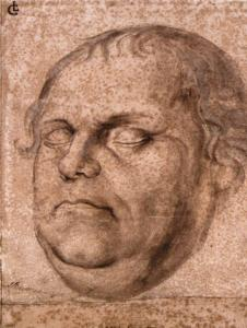 Portrait Sketch of the Dead Martin Luther
