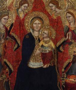 Madonna Enthroned with Angels and Saints (detail)