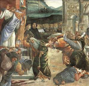 The Punishment of Korah and the Stoning of Moses and Aaron