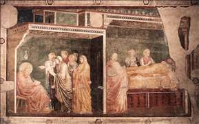 Scenes from the Life of St John the Baptist: 2. Birth and Naming of the Baptist