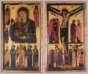 Madonna and Child with Saints and Crucifixion