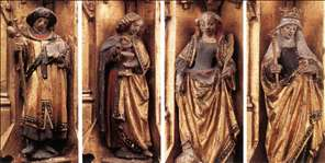 St Ursula Shrine: Figures