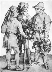 Three Peasants in Conversation