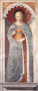 St Fina (on the pillar)