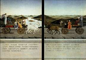 Portraits of Federico da Montefeltro and His Wife Battista Sforza (reverse sides)