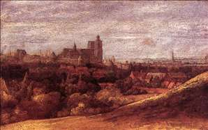 View of Brussels from the North-East