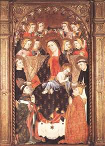 Virgin and Child with Angels and Saints