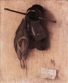 Still-Life with Partridge and Iron Gloves