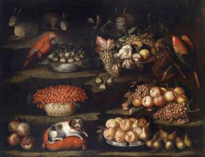 Still-Life with Animals and Fruit