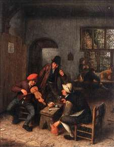 Interior of a Tavern with Violin Player