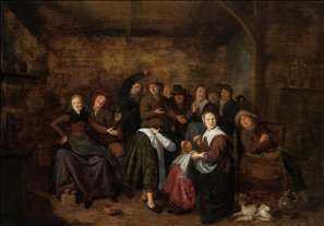 Peasants in an Inn Playing