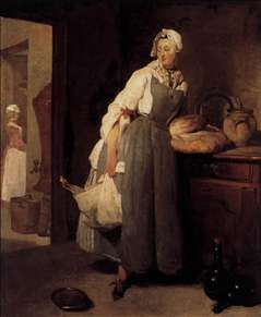 Servant Returning from the Market (La Pourvoyeuse)