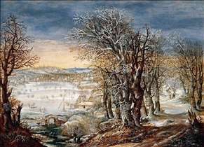 Winter Landscape in the Fôret de Soignes, with the Flight Into Egypt