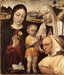 Madonna and Child, St Catherine and the Blessed Stefano Maconi