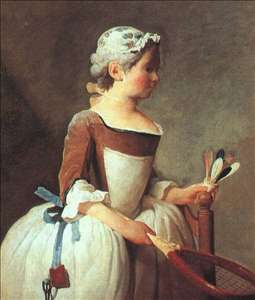 Girl with Racket and Shuttlecock